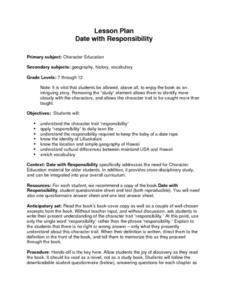 Date with Responsibility Lesson Plan