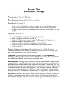 Passport to Courage Lesson Plan