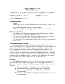 Space Exploration Narrative Lesson Plan