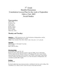 Constitution Lesson Plan Lesson Plan