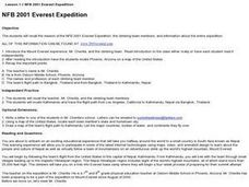 2001 Everest Expedition Lesson Plan