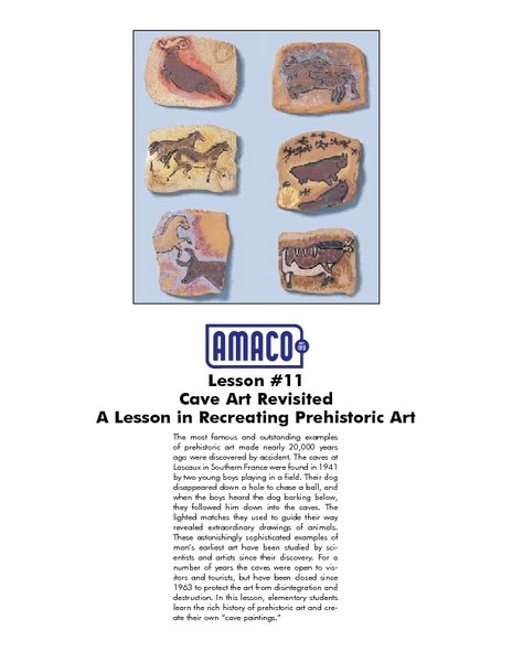 Cave Art Revisited Lesson Plan