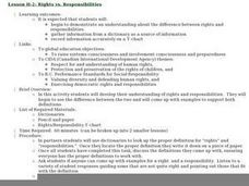 Rights vs. Responsibilities Lesson Plan