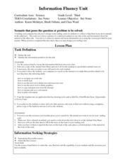Information Fluency Lesson Plan