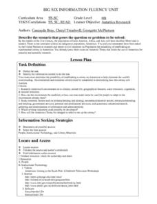 Antartica Reseasrch Lesson Plan