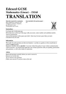 Translations Assessment