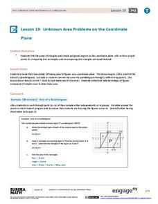Unknown Area Problems on the Coordinate Plane Lesson Plan