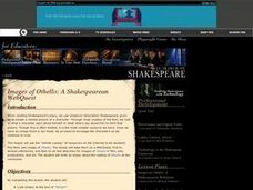 In Search of Shakespeare . Images of Othello: A Shakespearean WebQuest | PBS Lesson Plan