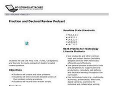 Fraction and Decimal Review Podcast Lesson Plan