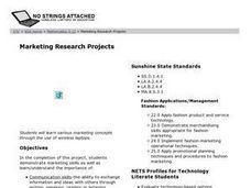 Marketing Research Projects Lesson Plan