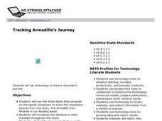 Tracking Armadillo's Journey Lesson Plan
