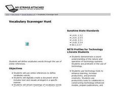 Vocabulary Scavenger Hunt Lesson Plan