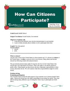 How Can Citizens Participate? Lesson Plan