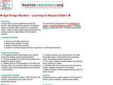 Age Brings Wisdom -- Learning to Respect Elders Lesson Plan