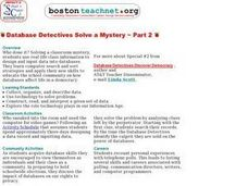 Database Detectives Solve a Mystery ~ Part 2 Lesson Plan