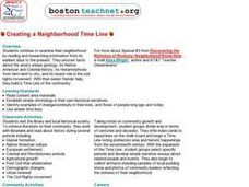 Creating a Neighborhood Timeline Lesson Plan