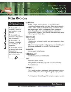 Rain Reasons Lesson Plan