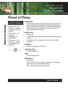 Planet of Plenty Lesson Plan