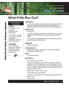 What If We Run Out? Lesson Plan