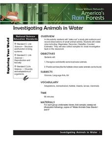 Investigating Animals in Water Lesson Plan