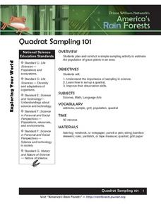 Quadrat Sampling 101 Lesson Plan