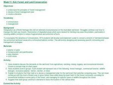 Soil, Forest, and Land Conservation Lesson Plan