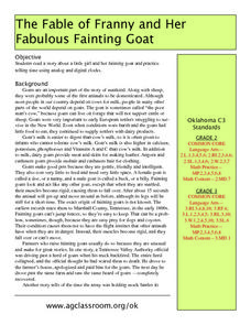 The Fable of Franny And Her Fabulous Fainting Goat Lesson Plan