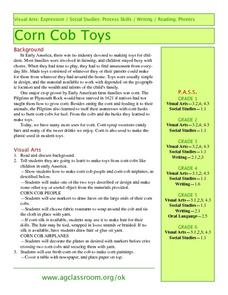 Corn Cob Toys Lesson Plan