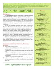 Ag In The Outfield Lesson Plan