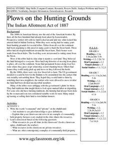 Plows on the Hunting Ground Lesson Plan