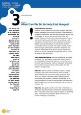 What Can We Do to Help End Hunger? Lesson Plan