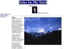 Yaks In My Yard Lesson Plan