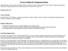 Cross-Cultural Communication Lesson Plan