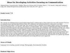 Ideas for Developing Activities Focusing on Communication Lesson Plan