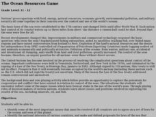 The Ocean Resources Game Lesson Plan