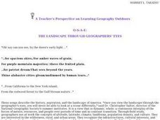 The Landscape Through Geographer's Eyes Lesson Plan
