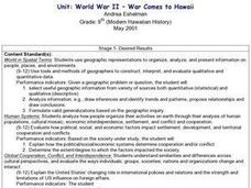 World War II - War Comes to Hawaii Lesson Plan