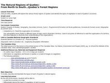 From North to South...Quebec's Forest Regions Lesson Plan