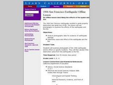 Examing the San Francisco Earthquake Lesson Plan