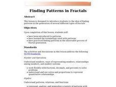 Finding Patterns in Fractals Lesson Plan