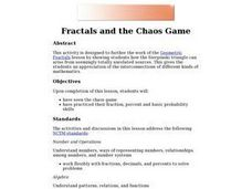Geometric Fractals and the Chaos Game Lesson Plan