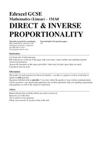 Direct and Inverse Proportionality Assessment