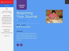 Beginning Your Journal Lesson Plan