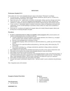 Detention Lesson Plan for 6th   8th Grade   Lesson Planet