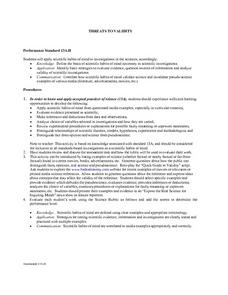 Threats to Validity Lesson Plan