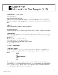 Introduction to Risk Analysis Lesson Plan