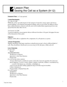 Seeing the Cell as a System Lesson Plan