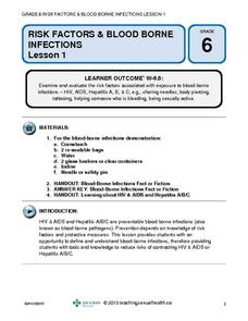 Risk Factors and Blood-Borne Diseases Lesson Plan