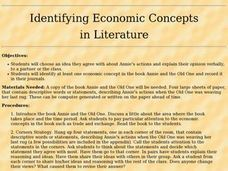 Identifying Economic Concepts in Literature Lesson Plan