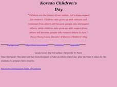 Korean Children's Day Lesson Plan
